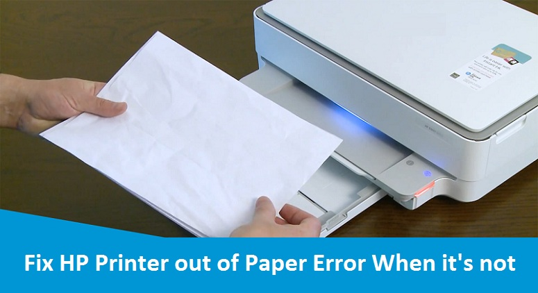 HP Printer out of paper reset