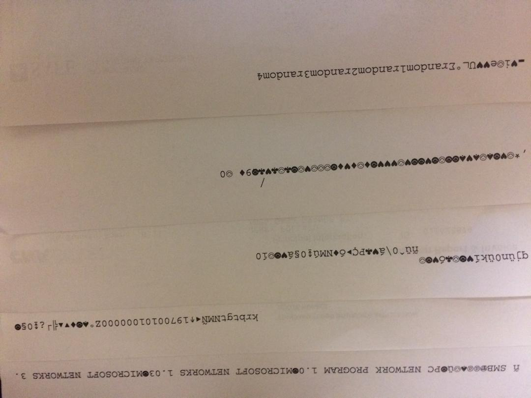 Fix HP Printer Printing Gibberish