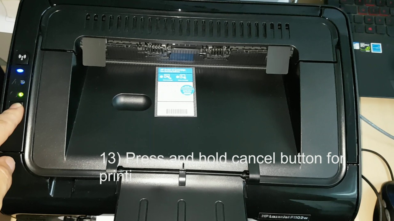 HP Laser Jet Printer Error Code P1102w