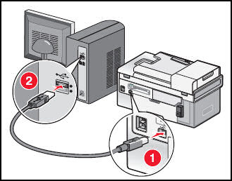 Now, Connecting the USB to your Printer and the PC