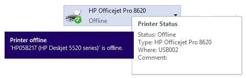 HP Printer Offline Issue