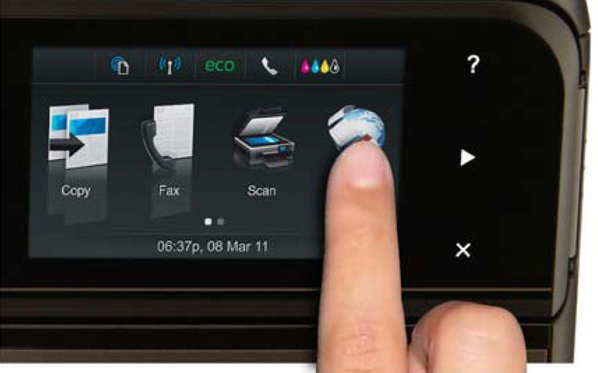 HP Printer With Touchscreen Display