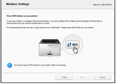 Steps to connect the HP Printer using WPS Pin