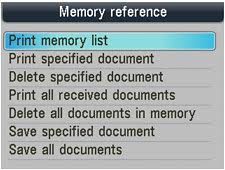 Clear Fax from Memory